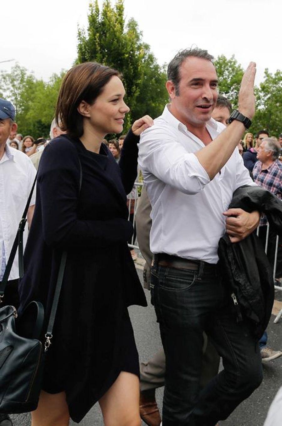 Nathalie Péchalat et Jean Dujardin plus complices que jamais