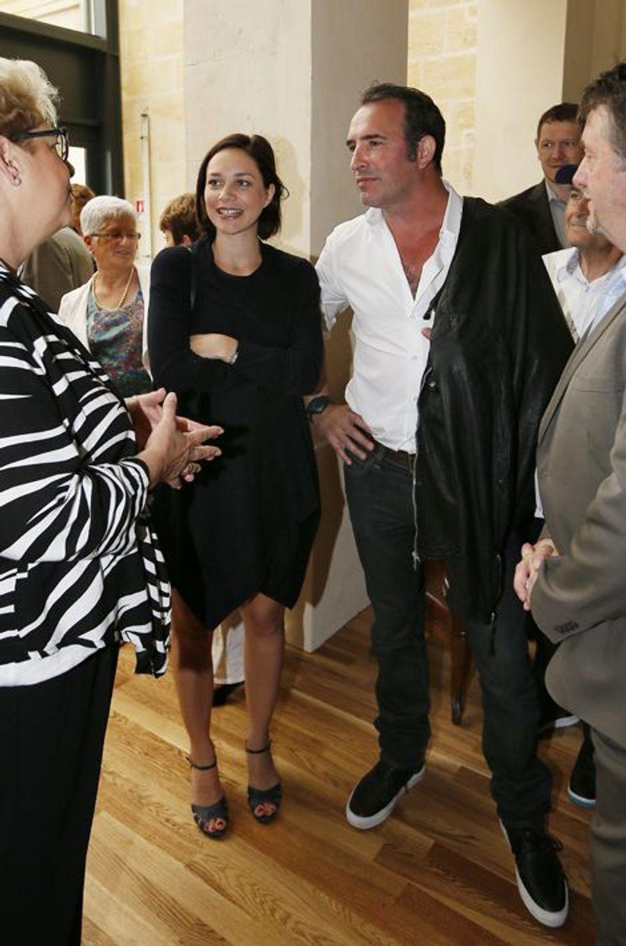 Nathalie Péchalat et sa belle-mère aux côtés de Jean Dujardin