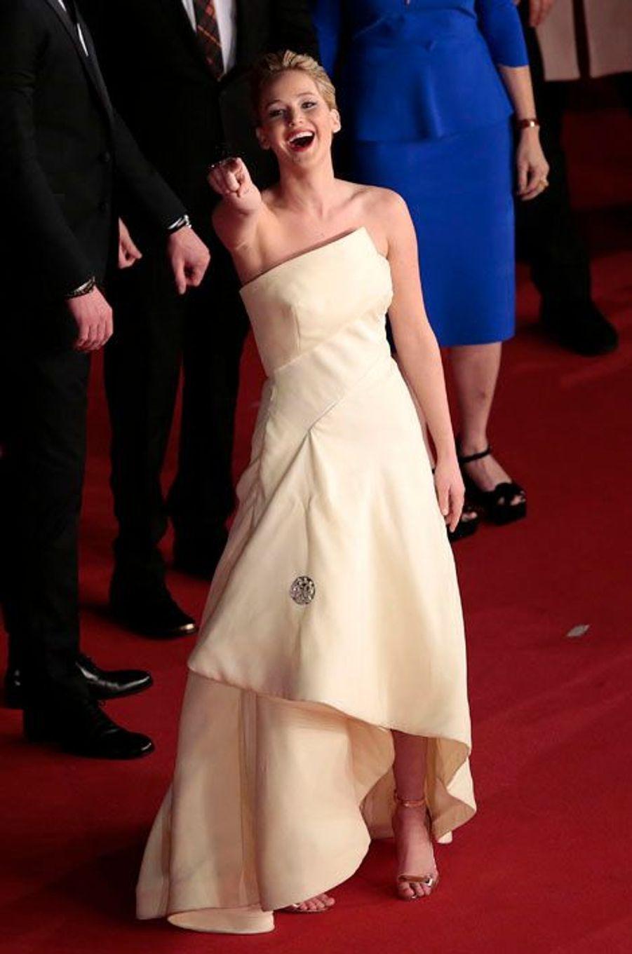 Jennifer Lawrence en novembre 2014, à Rome