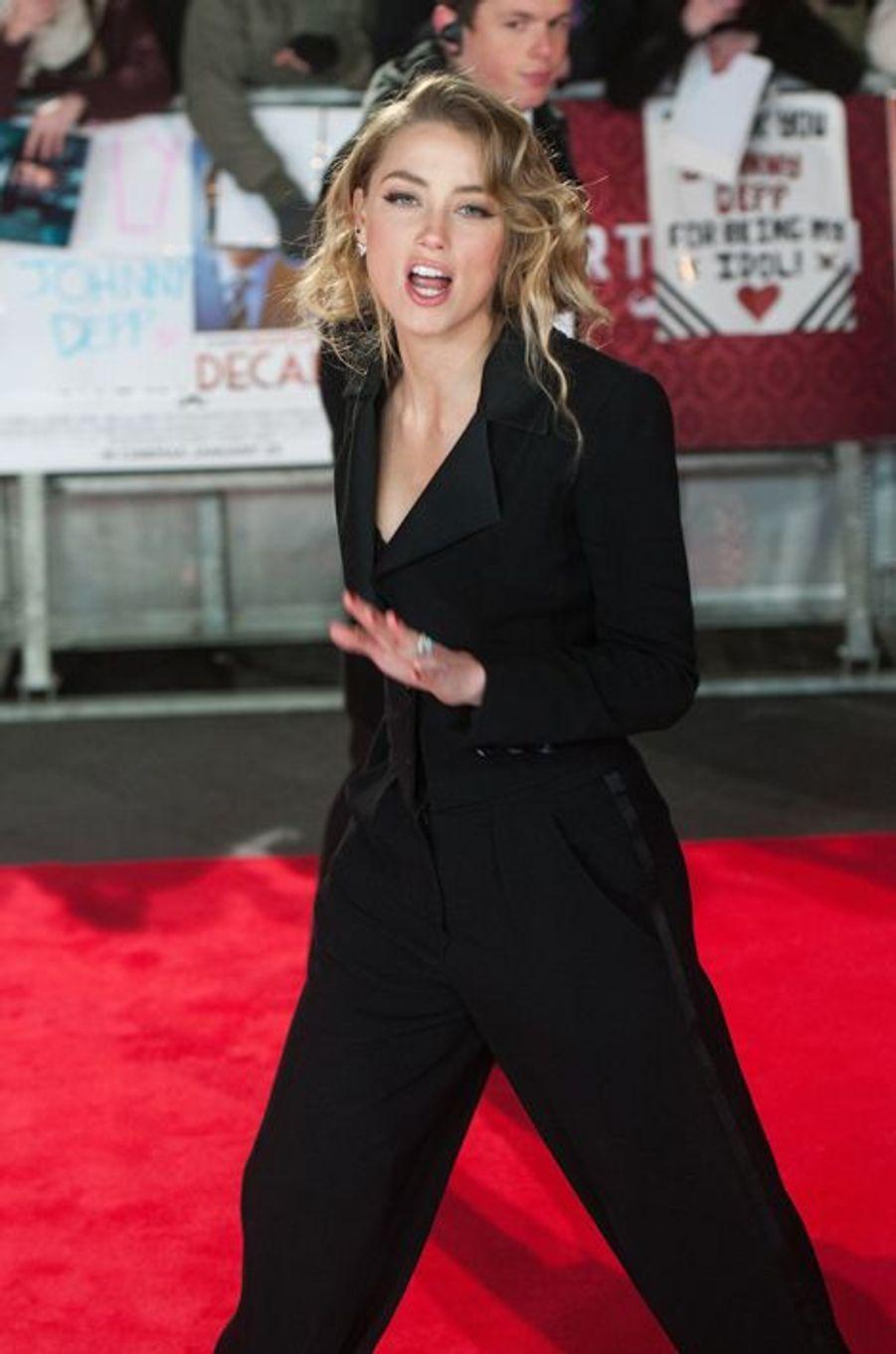 Amber Heard à Londres le 19 janvier 2015