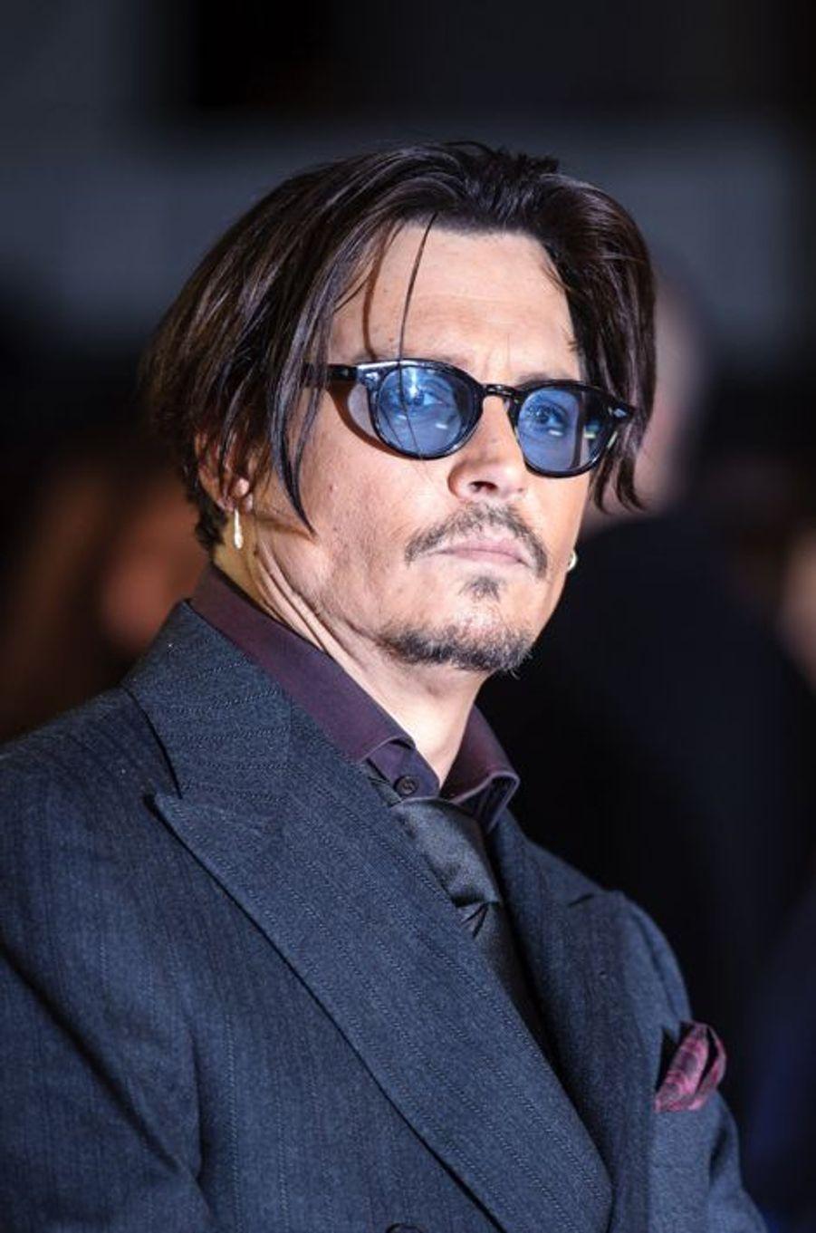 Johnny Depp à Londres le 19 janvier 2015