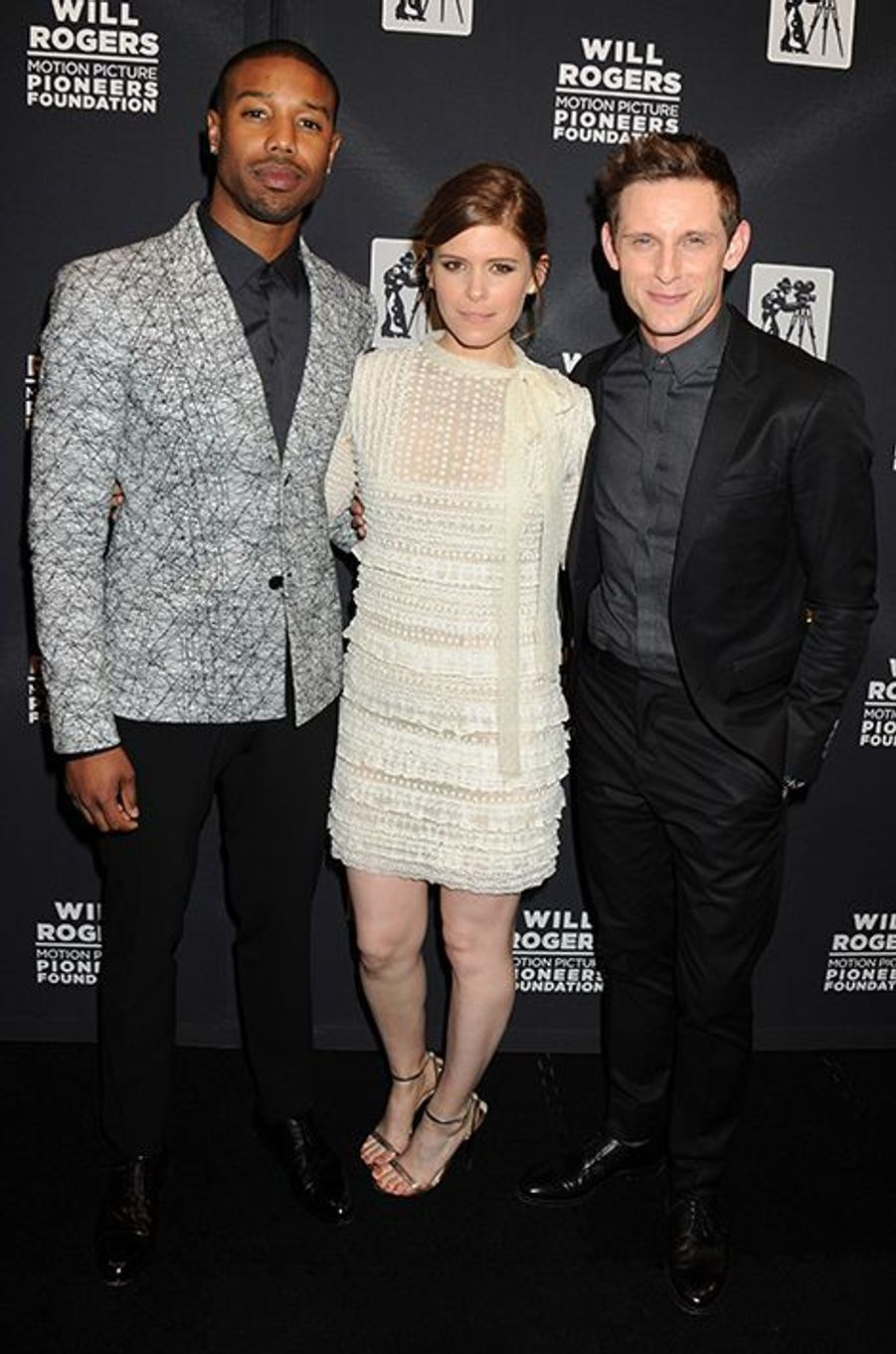 Michael B. Jordan, Kate Mara et Jamie Bell à New York le 22 avril 2015