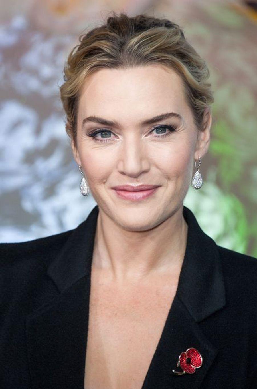 Le vendredi 6 novembre, Kate Winslet a inauguré les célèbres décorations de Noël du Printemps Haussmann.