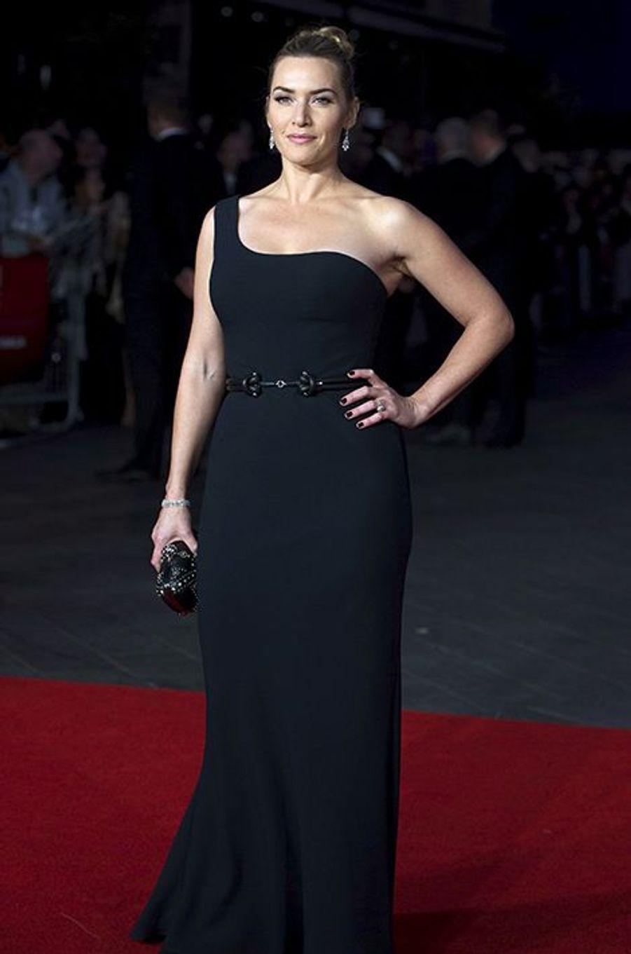 Kate Winslet à Londres le 18 octobre 2015