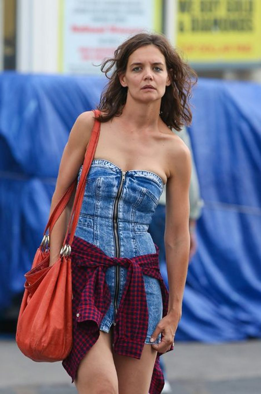 Katie Holmes à New York le 11 août 2015