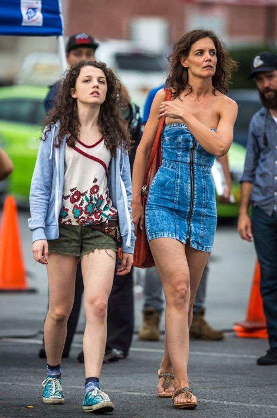 Katie Holmes et Stefania Owen à New York le 11 août 2015