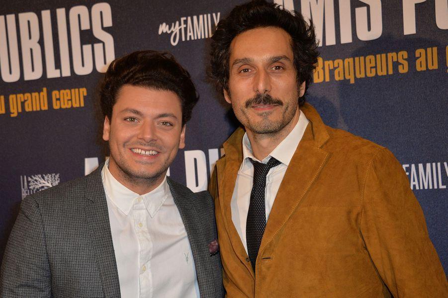 Kev Adams et Vincent Elbaz à Paris le 1er février 2016