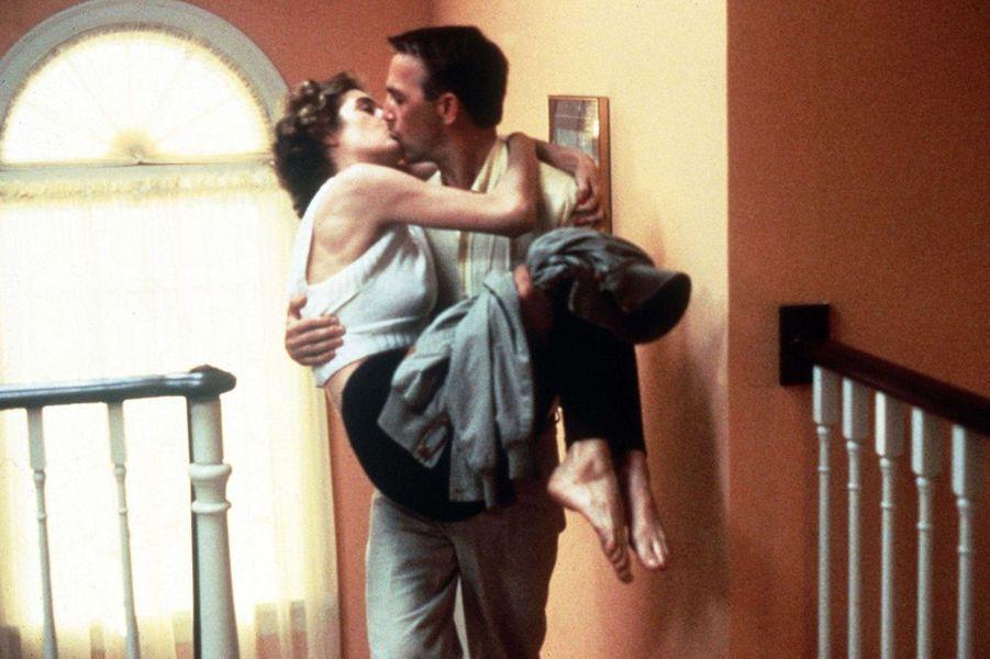 """Avec Sean Young dans """"Sens unique"""", en 1987"""