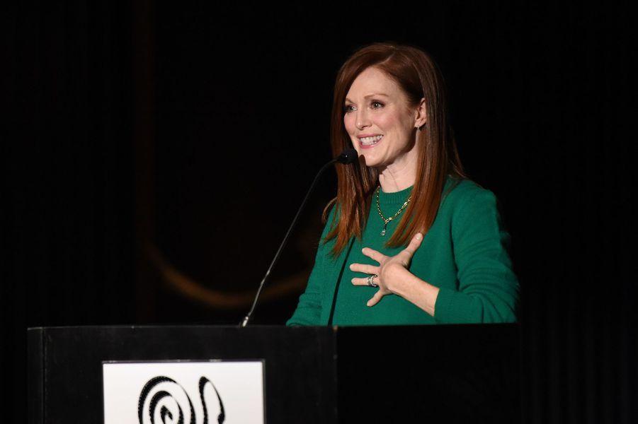 Julianne Moore à New York le 4 janvier 2016