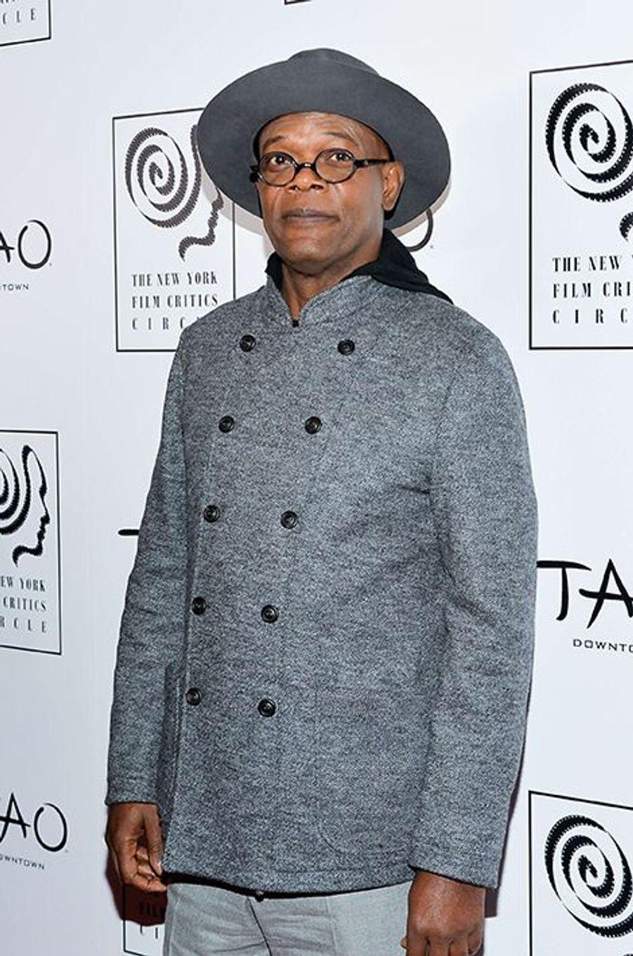Samuel L. Jackson à New York le 4 janvier 2016