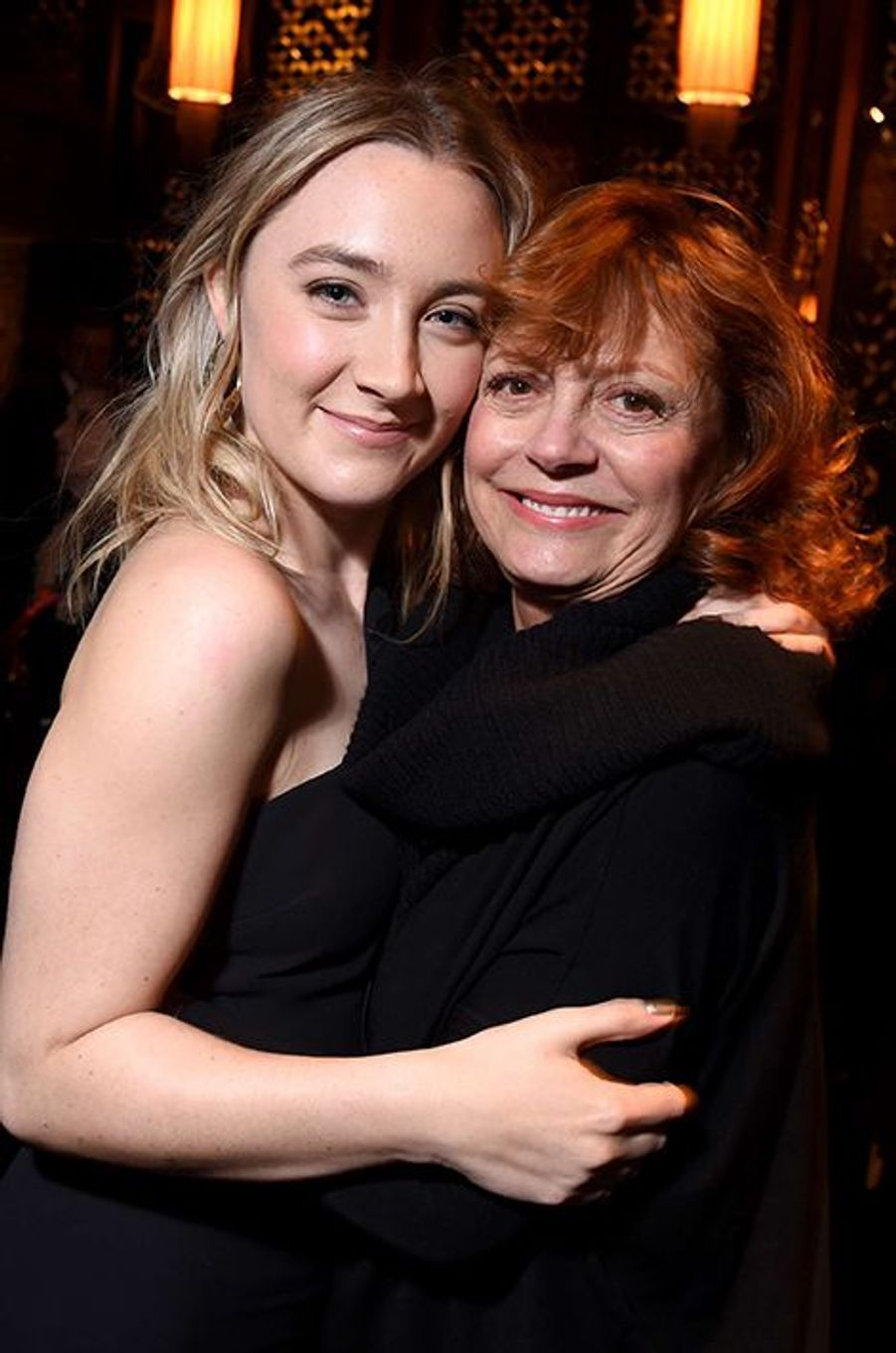Saoirse Ronan et Susan Sarandon à New York le 4 janvier 2016