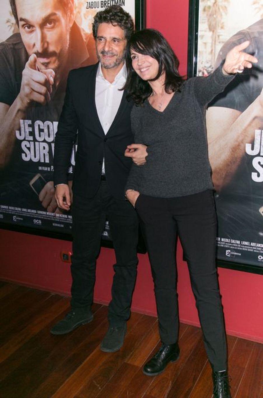 Pascal Elbé et Zabou Breitman à Paris le 21 décembre 2015