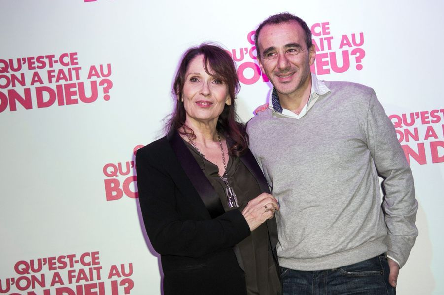 Chantal Lauby et Elie Semoun à Paris le 8 décembre 2014