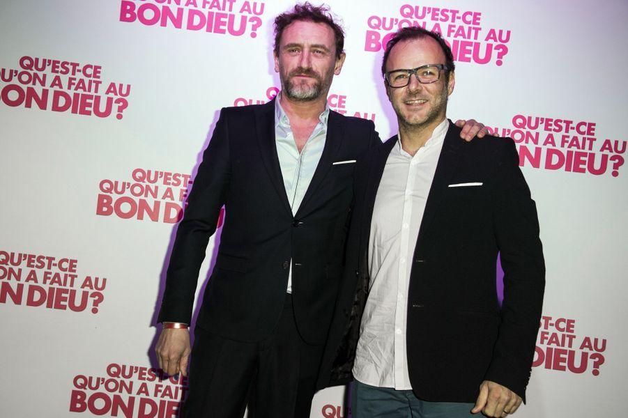 Jean-Paul Rouve et Pierre-François Martin-Laval à Paris le 8 décembre 2014