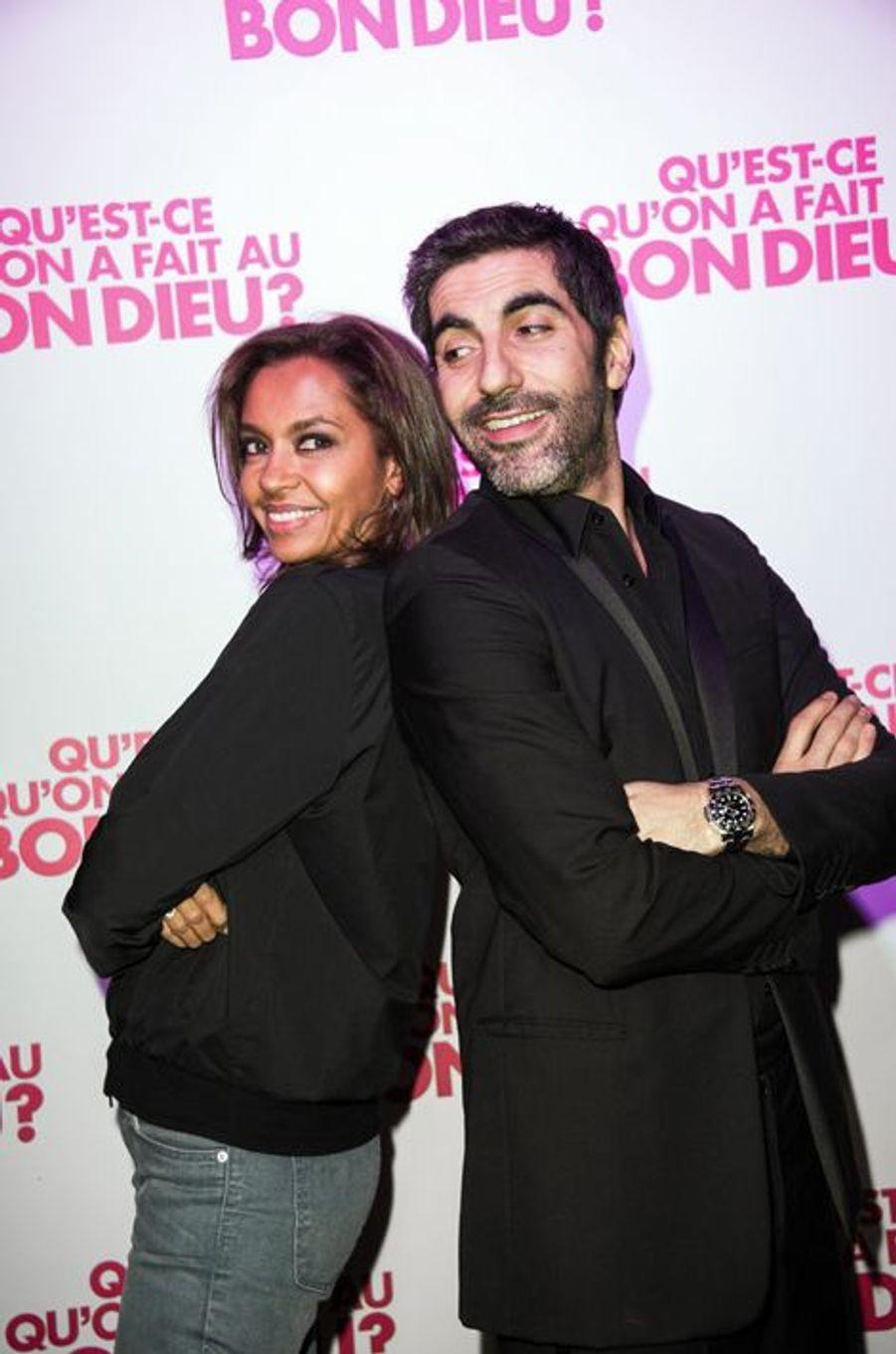 Karine Lemarchand et Ary Abbitan à Paris le 8 décembre 2014