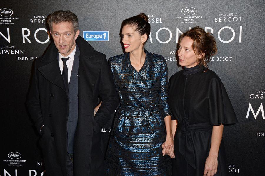 Vincent Cassel, Maïwenn et Emmanuelle Bercot