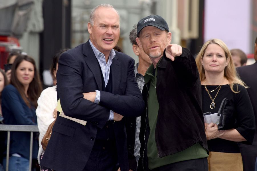 Michael Keaton et Ron Howard à Los Angeles le 10 décembre 2015