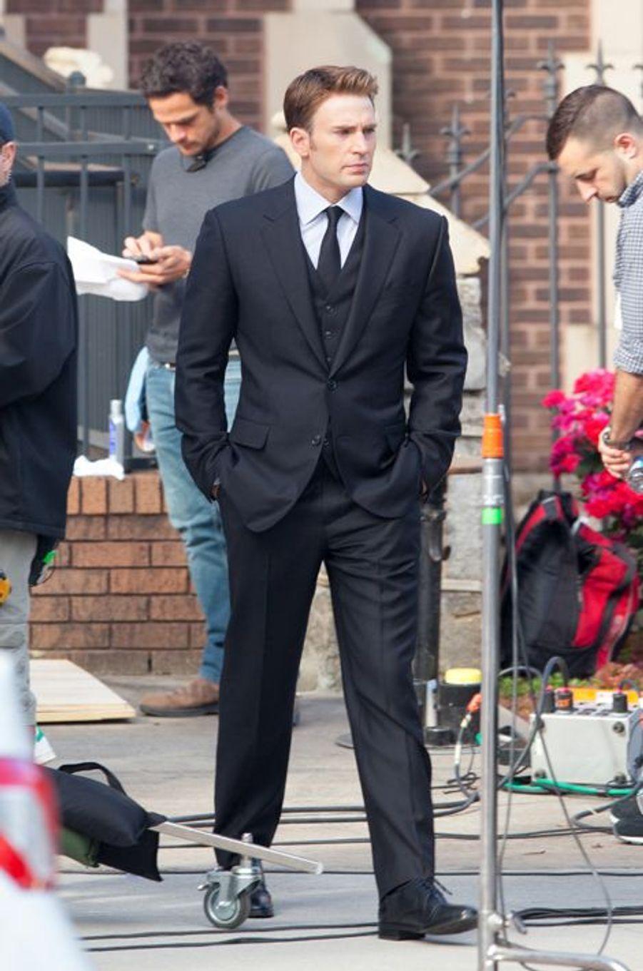 Chris Evans sur le tournage du film à Atlanta le 14 mai 2015