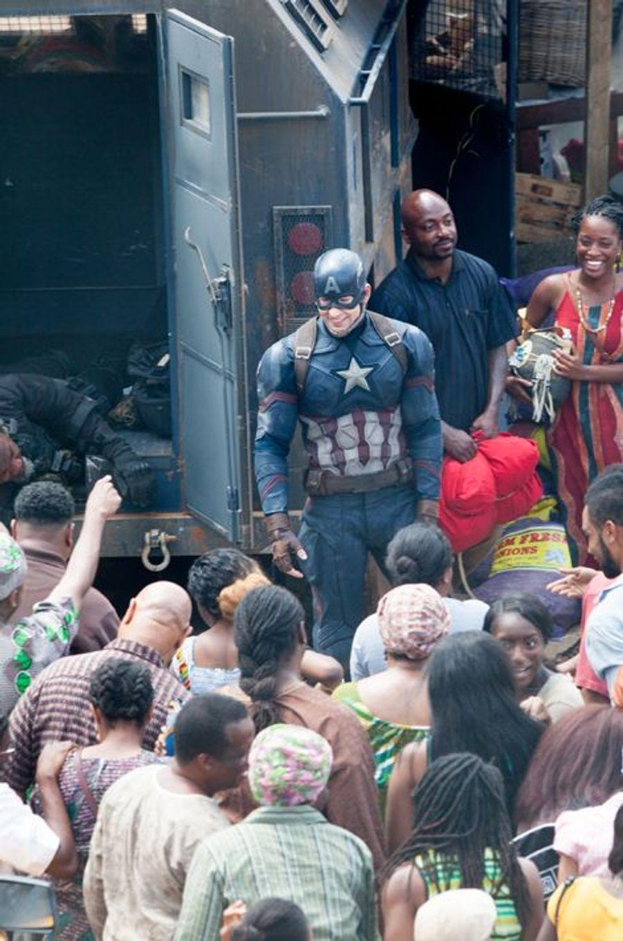 Chris Evans sur le tournage du film à Atlanta le 15 mai 2015