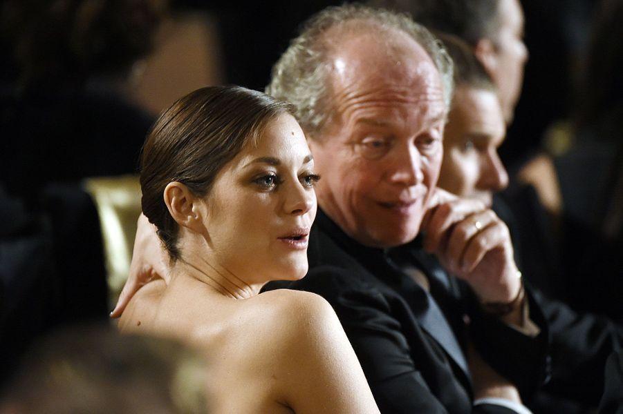 Marion Cotillard et le réalisateur Luc Dardenne