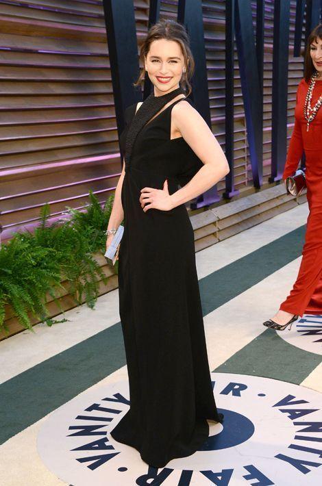 Emilia Clarke en Balenciaga aux Oscars, en mars 2014