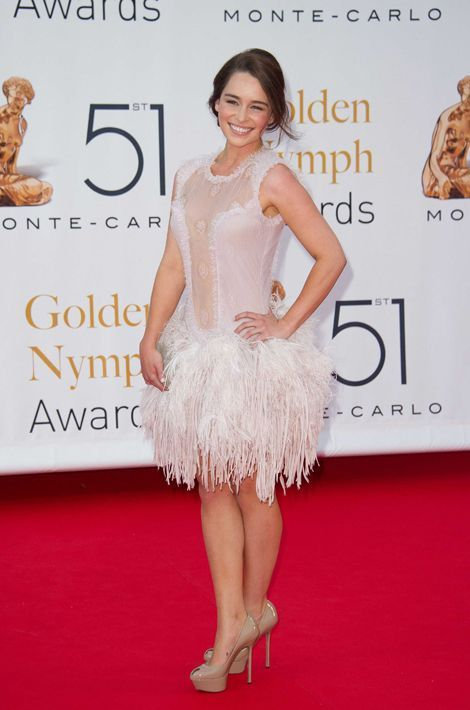 Emilia Clarke en Emanuel Ungaro au Festival international de la télévision de Monte Carlo, en juin 2011