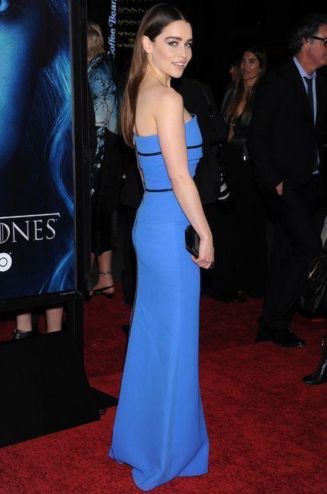 """Emilia Clarke en Victoria Beckham à la première de """"Game of Thrones"""", en mars 2013"""