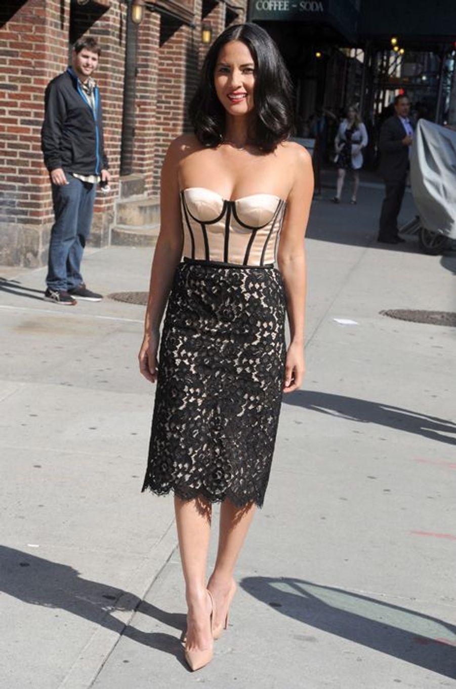 Olivia Munn en Michael Kors à New York, en aout 2013