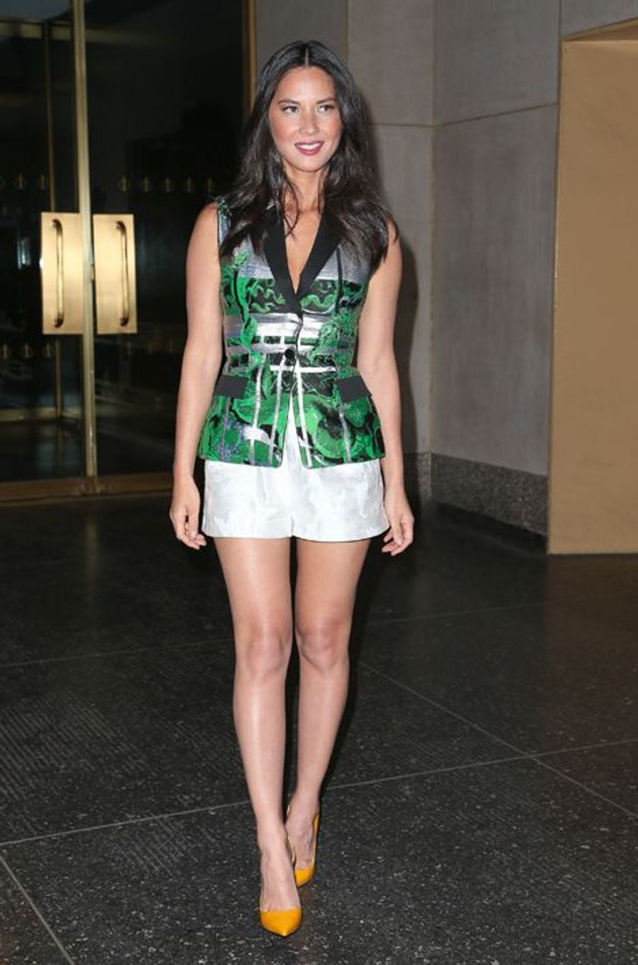 Olivia Munn en Peter Pilotto à New York, en juin 2014
