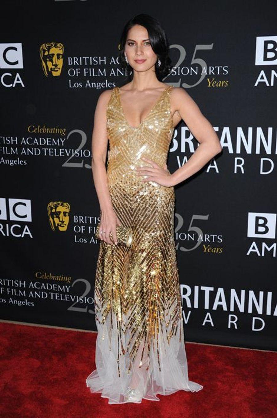 Olivia Munn en Temperley London aux BAFTA LA 2012 Britannia Awards, en novembre 2012