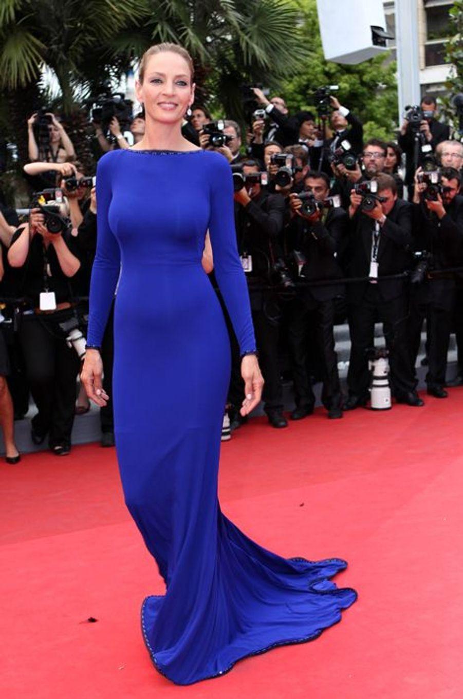 Uma Thurman en Armani Privé au Festival de Cannes, en mai 2011