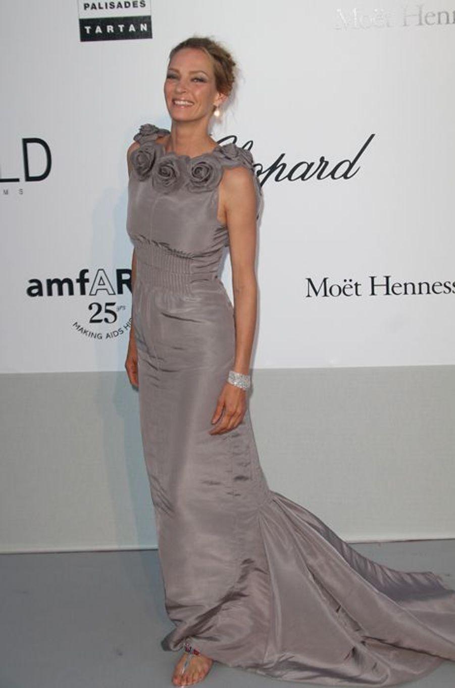 Uma Thurman en Chanel Couture au Gala de l'amfAR, en mai 2011