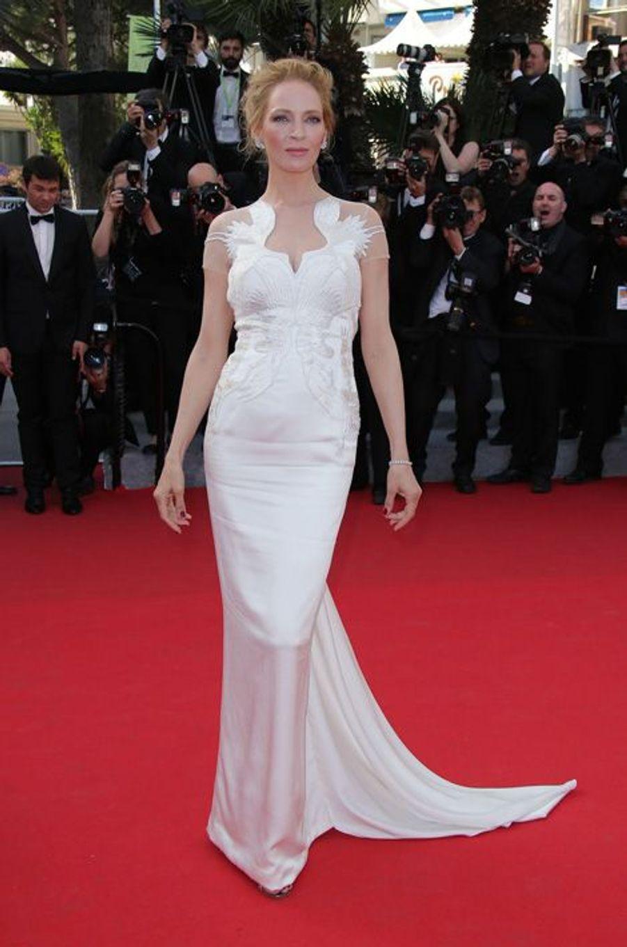 Uma Thurman en Marchesa au Festival de Cannes, en mai 2014