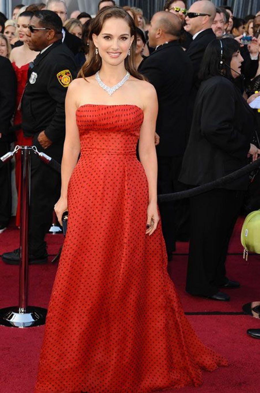 Aux Oscars, en 2012
