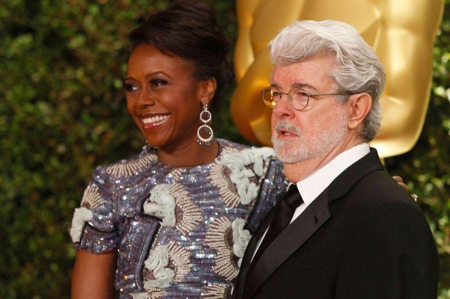 George Lucas et sa femme, Mellody Hobson