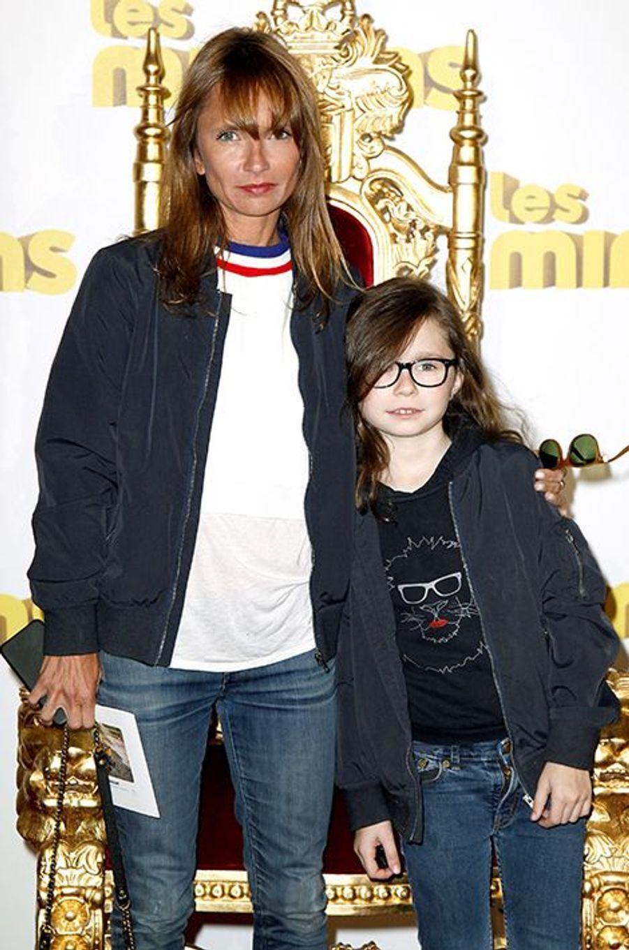 Axelle Lafont et sa fille