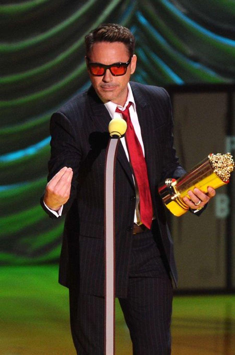 Robert Downey Jr. à Los Angeles le 12 avril 2015