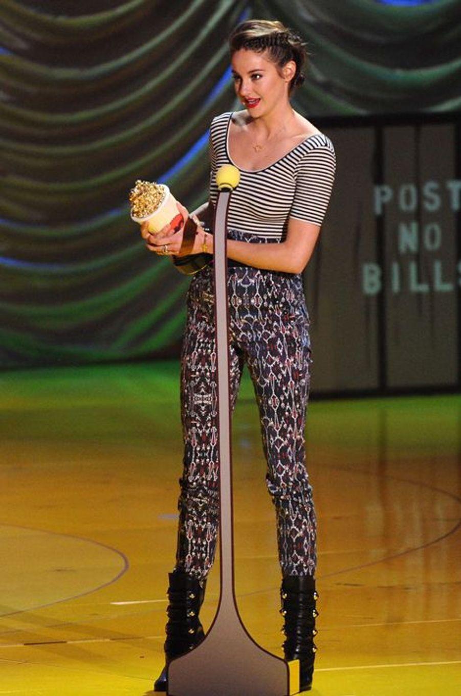 Shailene Woodley à Los Angeles le 12 avril 2015