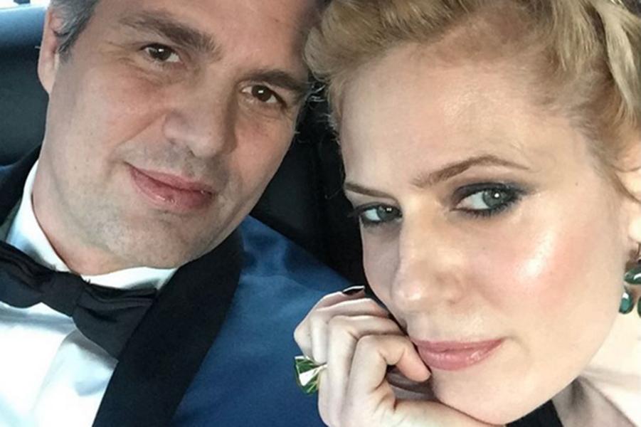 Mark Ruffalo avec son épouse en route pour le Kodak Theatre