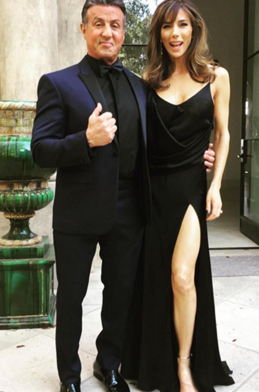 Sylvester Stallone et son épouse Jennifer