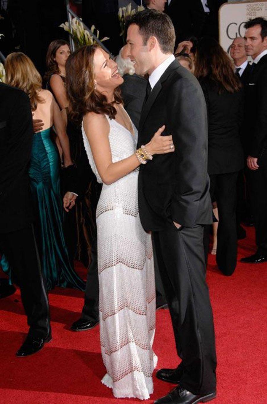 Jennifer Garner et Ben Affleck sur le red carpet en 2007.