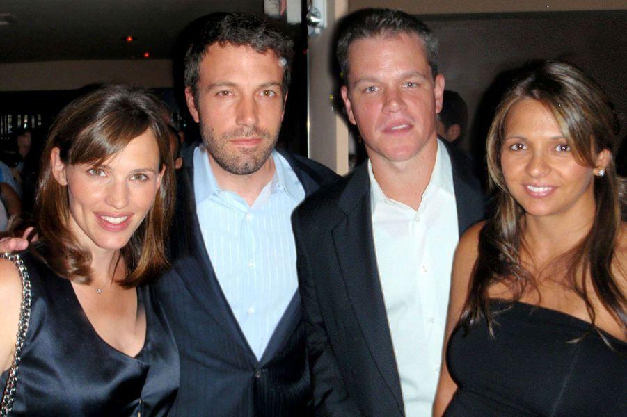 Jennifer Garner et Ben Affleck avec leur meilleur ami Matt Damon.