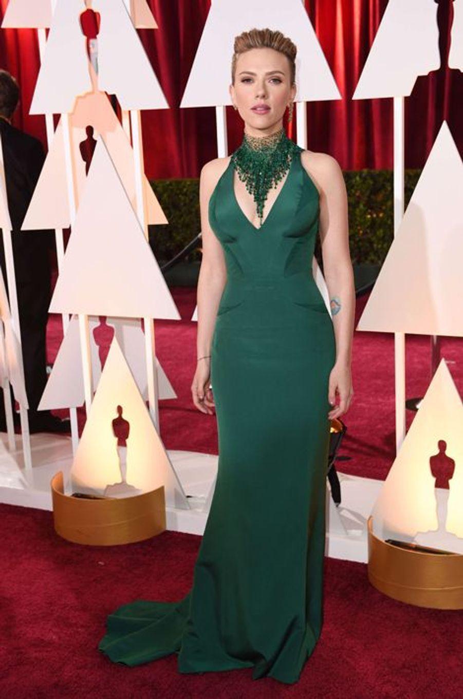 Scarlett Johansson en Atelier Versace
