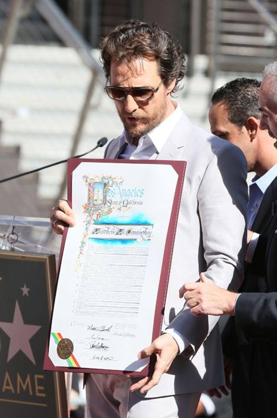 Matthew McConaughey à Los Angeles le 17 novembre 2014