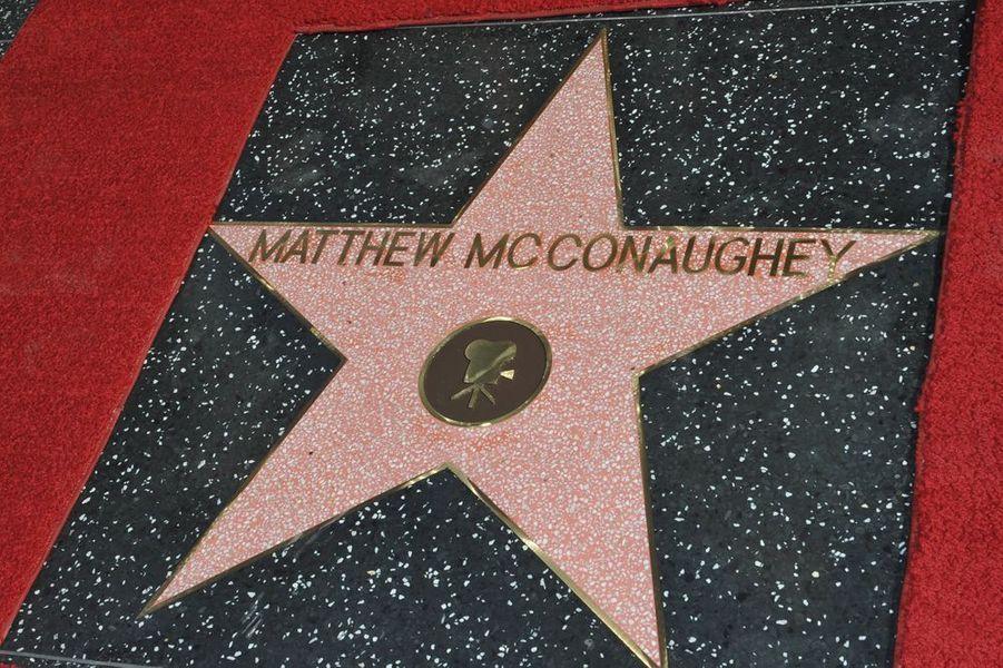 Matthew McConaughey reçoit son étoile à Los Angeles le 17 novembre 2014
