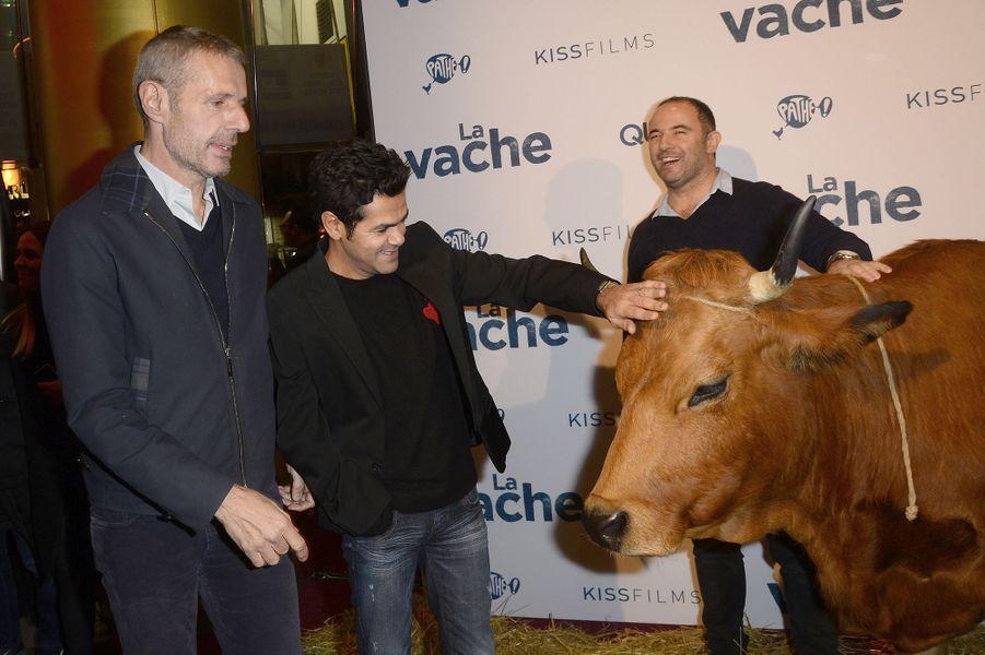 Lambert Wilson, Jamel Debbouze et Mohamed Hamidi à Paris le 14 février 2016