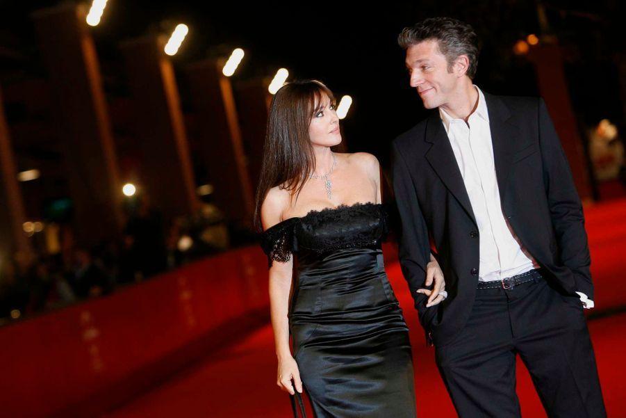 Octobre 2008. Au Festival de Rome, à la première de «L'uomo che ama», de Maria Sole Tognazzi et avec Monica Bellucci.