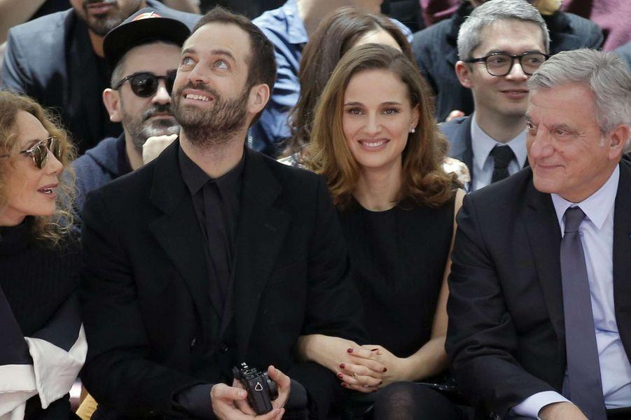 Natalie Portman et Benjamin Millepied à Paris le 26 janvier 2015