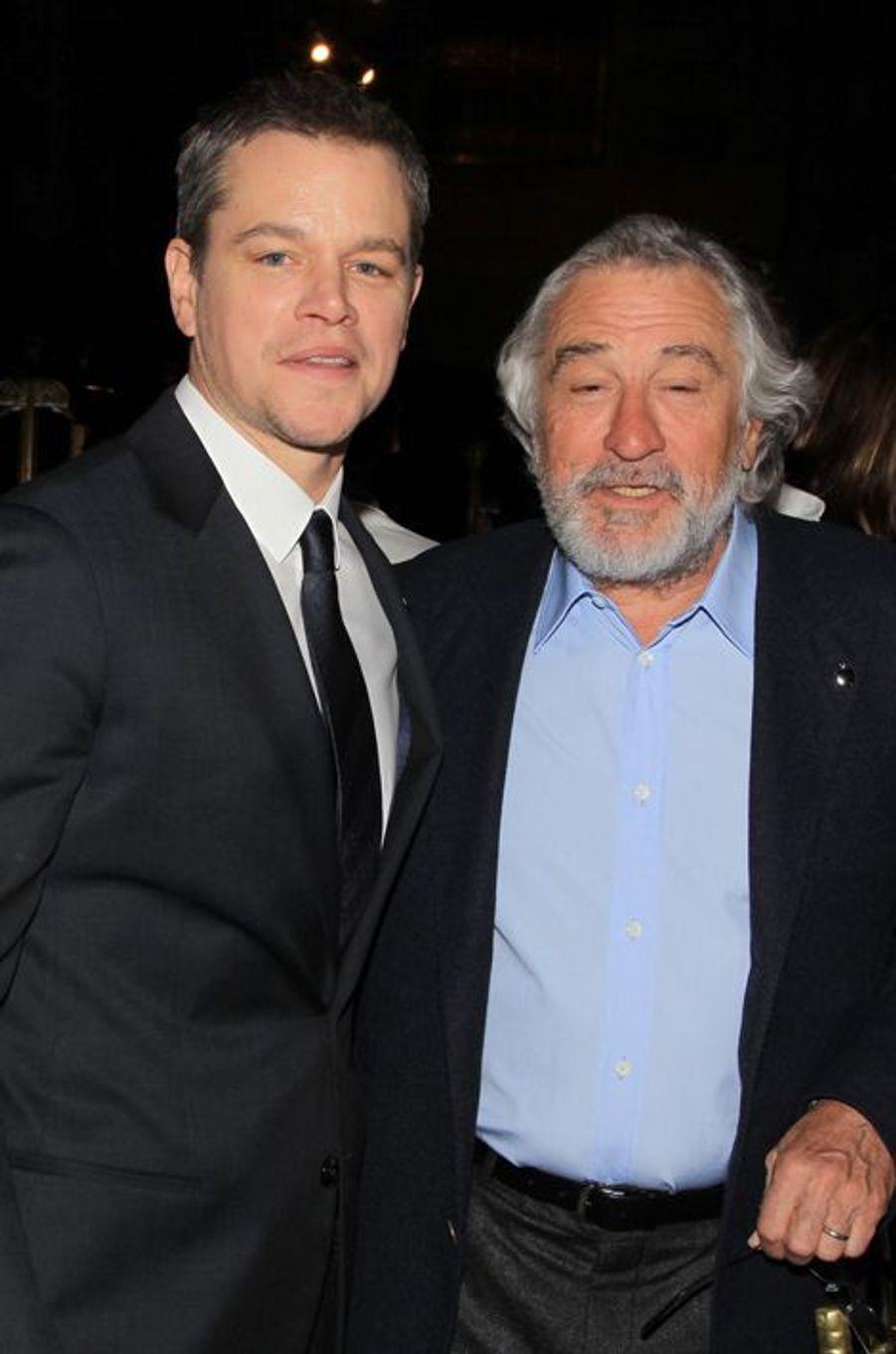 Matt Damon et Robert de Niro
