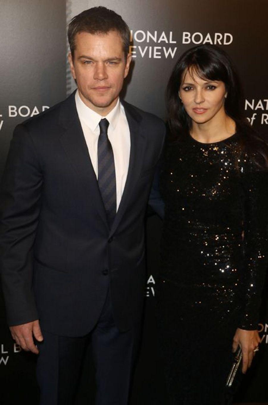 Matt Damon et son épouse Luciana